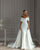 Off The Shoulder Satin Wedding Dress Sheath Silhouette