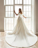 Off The Shoulder A-line Satin Wedding Dress Silhouette Fashion 2021 Bridal Gowns Chapel Train