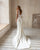 Sexy Mermaid Wedding Dresses with Tail V-Neck 2021 Satin Bridal Gowns Open Back 2021 Spring collection