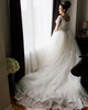 Classic Lace Wedding Dresses with Long Sleeve Sexy V-Neck 2021 Tulle Bridal Gowns Appliques