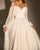 Simple Silk Like Chiffon Wedding Dresses Modest Long Sleeve 2021 Bridal Gowns Ruffles
