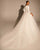 White Tulle Skirt Wedding Dresses with Long Sleeve Deep V-Neck 2021 Ball Gown Bridal Dress