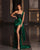 Sexy Emerald Green Evening Dresses with Beads Delicate Mermaid Long Formal Party Gowns 2021