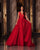 Sexy Red Tulle Prom Dresses with V-Neck Elegant A-line Long Prom Party Gowns 2021 New