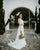 Elegant Lace Long Sleeve Wedding Dresses with V-Neckline Sexy Sheath Bridal Gowns 2021