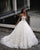 Gorgeous Lace Wedding Dresses Strapless Sexy Ball Gowns Tulle Skirt Bridal Dress with Butterfly