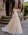 Sexy Lace Wedding Dresses Sheer Neckline Sleeveless Transparent Back A-line Silhouette Tulle Bridal Wedding Gowns