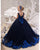 Navy Blue Tulle Birthday Wedding Party Dress Lace Flower Girls Dresses Ball Gown 2021