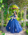Royal Blue Quinceanera Dresses Ball Gown with Lace Appliques Sweetheart Sparkly Organza Sweet 16 Dress princess quince dress