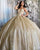 Sparkly Champagne Gold Quinceanera Dresses Ball Gowns Sweetheart Neckline vestidos de quinceañera