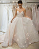Sparkly Sequined Wedding Dresses Strapless Sweetheart Blush Pink Bridal Wedding Gowns 2021