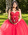 Delicate Red Tulle Quinceanera Dress Ball Gown Lace Appliques Sweetheart Princess Sweet 16 Dress vestidos de quinceañera