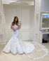 Gorgeous Mermaid Lace Wedding Dresses Off The Shoulder Sexy Trumpet Wedding Gown for Brides