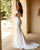 Off The Shoulder Wedding Dress Mermaid Silhouette Zipper Back with Buttons Sexy Bridal Gowns