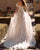 Off The Shoulder Beach Wedding Dress A-line Tulle Lace Bridal Gowns Cap Sleeve