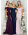 Mermaid Elastic Satin Bridesmaid Dress Off The Shoulder Backless Long Party Gowns New