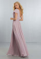 One Shoulder Bridesmaid Dresses Chiffon Ruffles Long Wedding Party Gowns