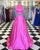 prom-dresses-hot-pink two-piece-prom-dresses prom-dresses-sartin trajes-de-gala