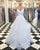 Beautiful White Organza Prom Dresses with Spaghetti Straps 2018 Elegant Prom Gowns Puffy Ruffles