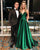 prom-dresses-2018 new-prom-dress fashion-2018-prom-dresses 2018-prom-dresses-green prom-dresses-a-line prom-dresses-v-neck prom-dresses-spaghetti-straps long-prom-dresses satin-prom-dresses-long