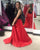 Sexy Black Red Two Piece Prom Dresses 2018 Halter Long Prom Party Gowns with Split Side