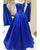 Elegant Royal Blue Prom Dresses 2018 New Arrival Strapless Long Prom Gowns for Party