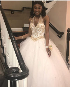 White Ball Gown Sweet 16 Dresses