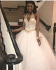 Popular White Quinceanera Dresses with Gold Beadings Sexy Halter Neckline Tulle Ball Gowns Sweet 16 Dress