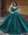 Fashion 2018 Satin Ball Gown Evening Dresses with Cap Sleeves Elegant Formal Dress Evening Gown