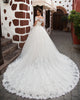 2019 Fashion Lace Wedding Dresses Short Sleeve Off The Shoulder Modest Lace Bridal Gowns for Wedding