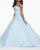 Soft A-Line Ballgown Featuring Beaded Lace Bodice and Simple Tulle Skirt prom-dresses tulle-prom-gowns lace-prom-dress style-43009