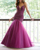 Glamorous 2019 Mermaid Evening Dresses Beaded Bodice V-Neck Tulle Formal Dress