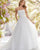 2018 Chic Strapless Wedding Dresses Organza Ball Gown Sexy Bridal Wedding Gowns