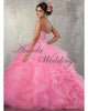 Hot Pink Quinceaner Dresses Sweetheart Beaded Ball Gowns Sweet 16