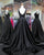 Elegant Black Satin Prom Dresses V-Neckline 2018 New Long Prom Gowns for Party