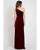 2021 Elegant One Shoulder Bridesmaid Dresses Split Side Soft Velvet Party Dress for Bridesmaids
