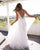 2018 Summer Beach Wedding Dresses V Neckline Tulle A line Wedding Gowns New Fashion