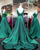 Fashion 2018 Green Satin Prom Dresses V-Neckline 2018 New Long Prom Gowns Evening Dress