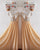 Silver Sequins Gold Chiffon Bridesmaid Dresses Ruffles V-Neck Floor Length