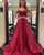 Two Piece Prom Dress with Spaghetti Straps A-line Elastic Satin Long Pageant Party Gowns 2018