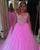Pink Tulle Puffy Quinceanera Dresses 2018 with Pearls Beaded Sweetheart Ball Gowns Sweet 16 Dress
