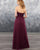 Sexy Burgundy Tulle A-line Bridesmaid Dresses Sweetheart Long Party Gowns Backless