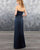 Sexy Navy Blue Sheath Bridesmaid Dresses Sweetheart Long Satin Party Gowns