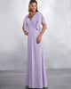 bridesmaid-dresses bridesmaid-dress-chiffon  party-gowns honor-of-the-maid-dresses-v-neck bridesmaid-dresses-half-sleeve bridesmaid-dresses-long