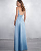 Sexy Spaghetti Straps Bridesmaid Dresses Long V-Neck Satin Party Gowns Fashion