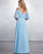 Off The Shoulder 2019 Lace Chiffon Bridesmaid Dresses V-Neck Party Gown Floor Length