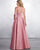 2019 Sexy Sheer Neck Pink Satin Bridesmaid Dresses A-line Party Gown Floor Length