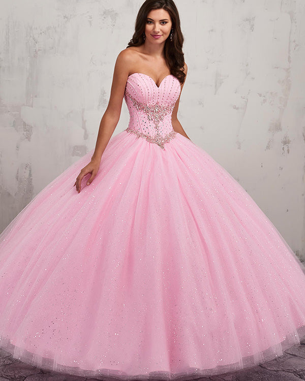 0923013c697 Sparkly Pink Quinceanera Dresses Sequins Beaded Sweetheart Ball Gown  vestidos de quinceañera