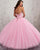 Sparkly Pink Quinceanera Dresses Sequins Beaded Sweetheart Ball Gown vestidos de quinceañera