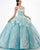 Illusion Aqua Tulle Lace Quinceanera Dresses with Lace Appliques Long Prom Ball Gown Sweet 16